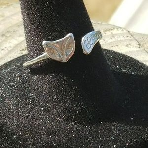 Fox silver ring Adjustable size!